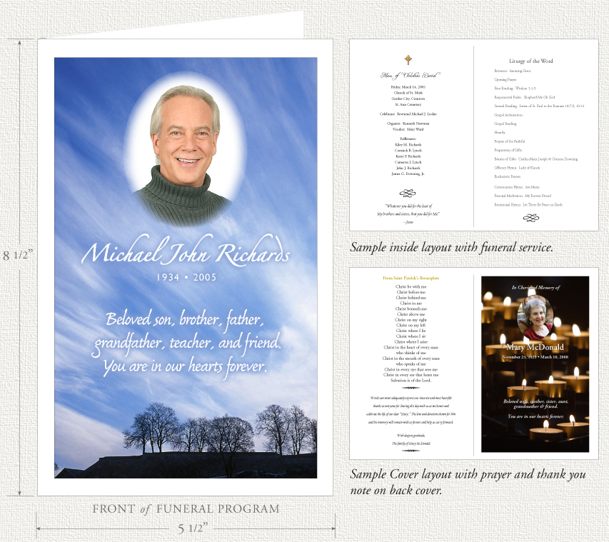 Funeral Programs by Memorial Prayer Cards