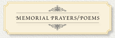 Our Collection Of Prayers And Poems Express Warm Sentiments And Words Of  Faith And Encouragement In The Face Of Sorrow And Loss.  Funeral Words For Cards