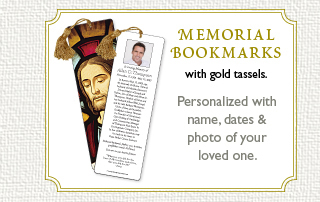 Memorial Bookmarks With Gold Tassels