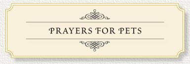 Memorial Prayer for Pets